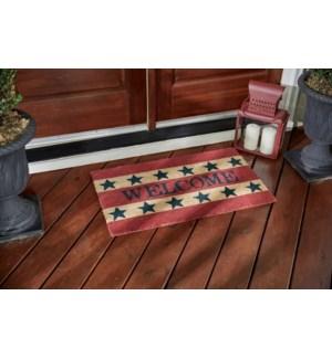 WELCOME AMERICANA DOOR MAT