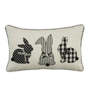 COTTON TAILS PILLOW 12X20 - POLY