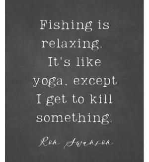 11X14  - FISHING IS RELAXING