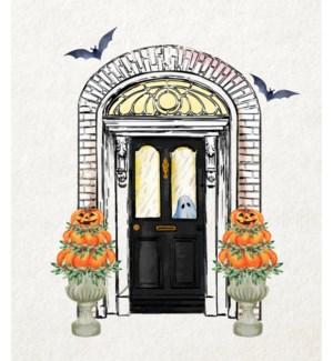 11X14  - HALLOWEEN FRONT DOOR