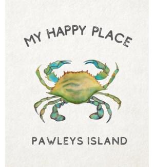 11X14  - HAPPY PLACE CRAB