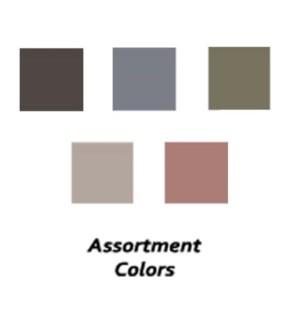 Captiva - 8 pc Assortment - (1) each Fern & Blue Blossom (2) each Black, Grey & Mauve