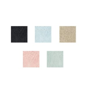 Catchy Clutch - 8 pc Summer Assortment - (2) pcs each Black W/Grey Trim, Baby Love Blue,  Vanilla B