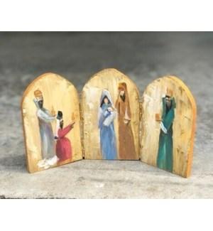 """9.5"""" Hinged Nativity, Copyright Candice Boatright"""