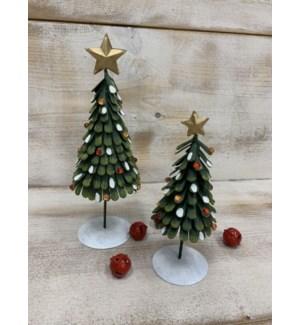 "9"" Layered Metal Christmas Tree, Round"