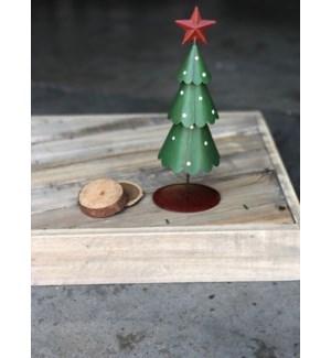 """8"""" Metal Christmas Tree"""