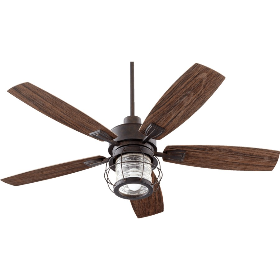 Galveston 52-in Toasted Sienna Indoor/Outdoor Ceiling Fan (5-Blade)