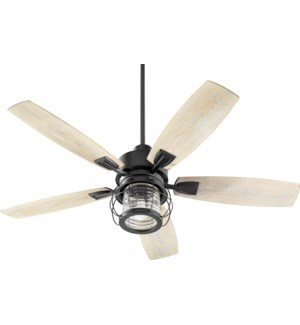 Galveston 52-in Black Indoor/Outdoor Ceiling Fan (5-Blade)