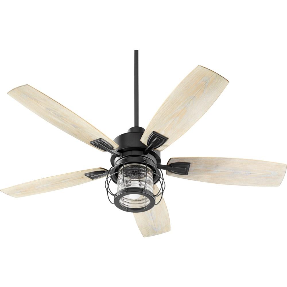 Galveston 52-in Black Indoor/Outdoor Ceiling Fan (5-Blade)