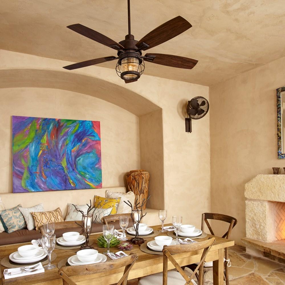 Galveston 52-in Oiled Bronze Indoor/Outdoor Ceiling Fan (5-Blade)