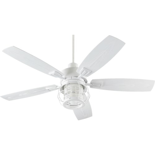 Galveston 52-in Studio White Indoor/Outdoor Ceiling Fan (5-Blade)