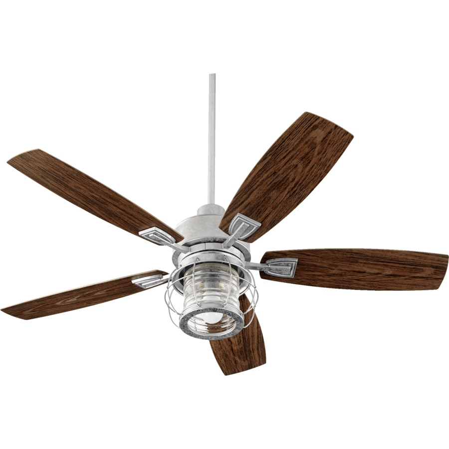 Galveston 52-in Galvanized Indoor/Outdoor Ceiling Fan (5-Blade)