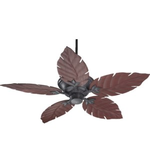 Monaco 52-in Toasted Sienna Indoor/Outdoor Ceiling Fan (5-Blade)