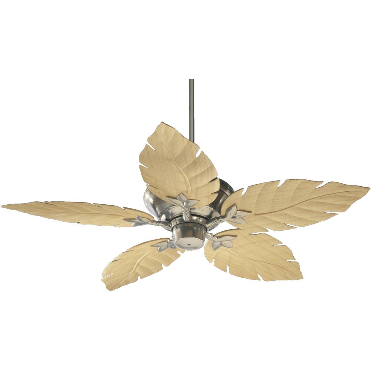 Monaco 52-in Satin Nickel Indoor/Outdoor Ceiling Fan (5-Blade)