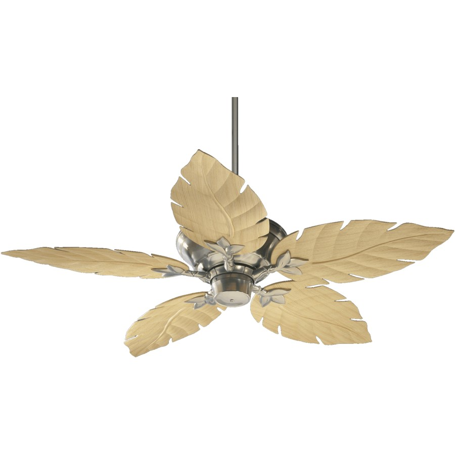 Monaco 52-in Satin Nickel Indoor/Outdoor Ceiling Fan (5-Blade)