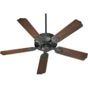 HUDSON 52-in Old World Indoor/Outdoor Ceiling Fan (5-Blade)