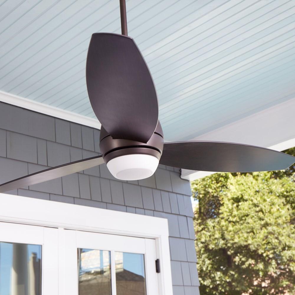 Bronx Patio 52-in Oiled Bronze Indoor/Outdoor Ceiling Fan (3-Blade)