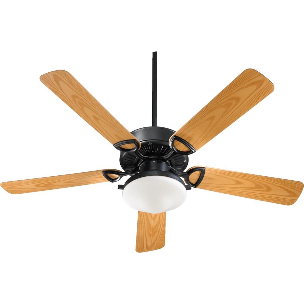 Estate Patio 52-in Matte Black Indoor/Outdoor Ceiling Fan (5-Blade)