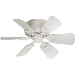 Medallion Patio 30-in Studio White Indoor/Outdoor Ceiling Fan (6-Blade)