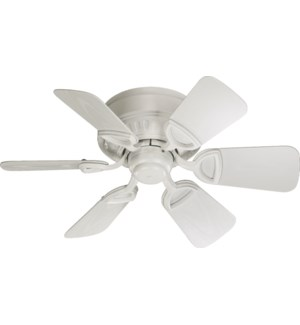 Medallion Patio 30-in Studio White Indoor/Outdoor Ceiling Fan (6-Blade)