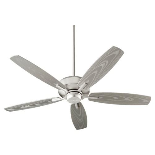 Breeze Patio 52-in Satin Nickel Indoor/Outdoor Ceiling Fan (5-Blade)