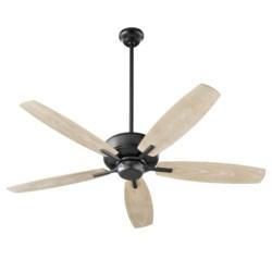 Breeze Patio 52-in Black Indoor/Outdoor Ceiling Fan (5-Blade)