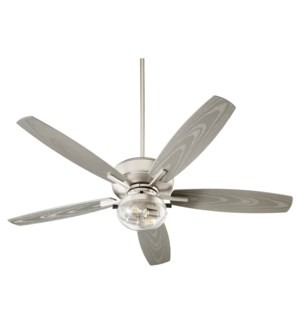 Breeze Patio 52-in Satin Nickel Indoor/Outdoor Ceiling Fan (5-Blade)
