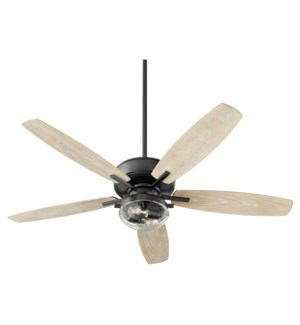 Breeze Patio 52-in Noir Indoor/Outdoor Ceiling Fan (5-Blade)