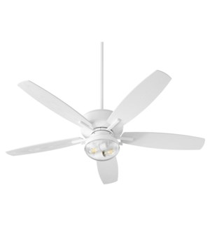 Breeze Patio 52-in Studio White Indoor/Outdoor Ceiling Fan (5-Blade)