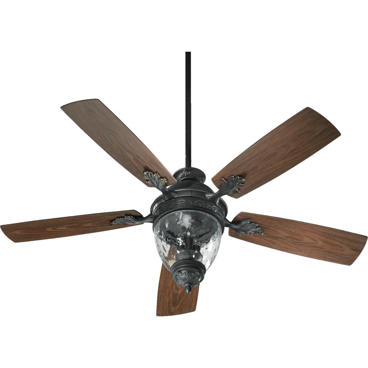 Georgia 52-in Old World  Indoor/Outdoor Ceiling Fan (5-Blade)