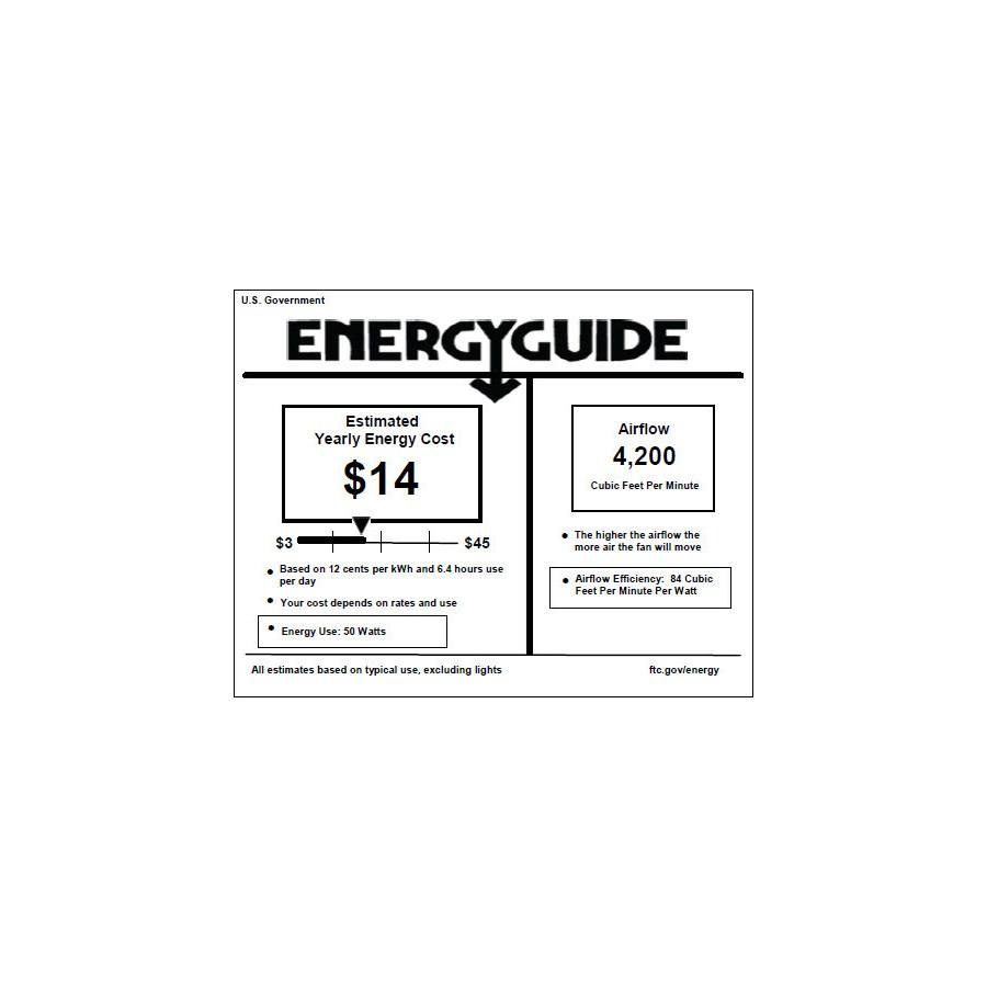 Pinnacle Patio 52-in Studio White Indoor/Outdoor Ceiling Fan (5-Blade)
