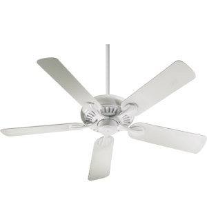 Pinnacle Patio 52-in Studio White Indoor/Outdoor Ceiling Fan (5-Blade)