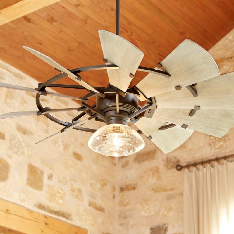 Windmill 44-in Oiled Bronze Indoor/Outdoor Ceiling Fan (10-Blade)