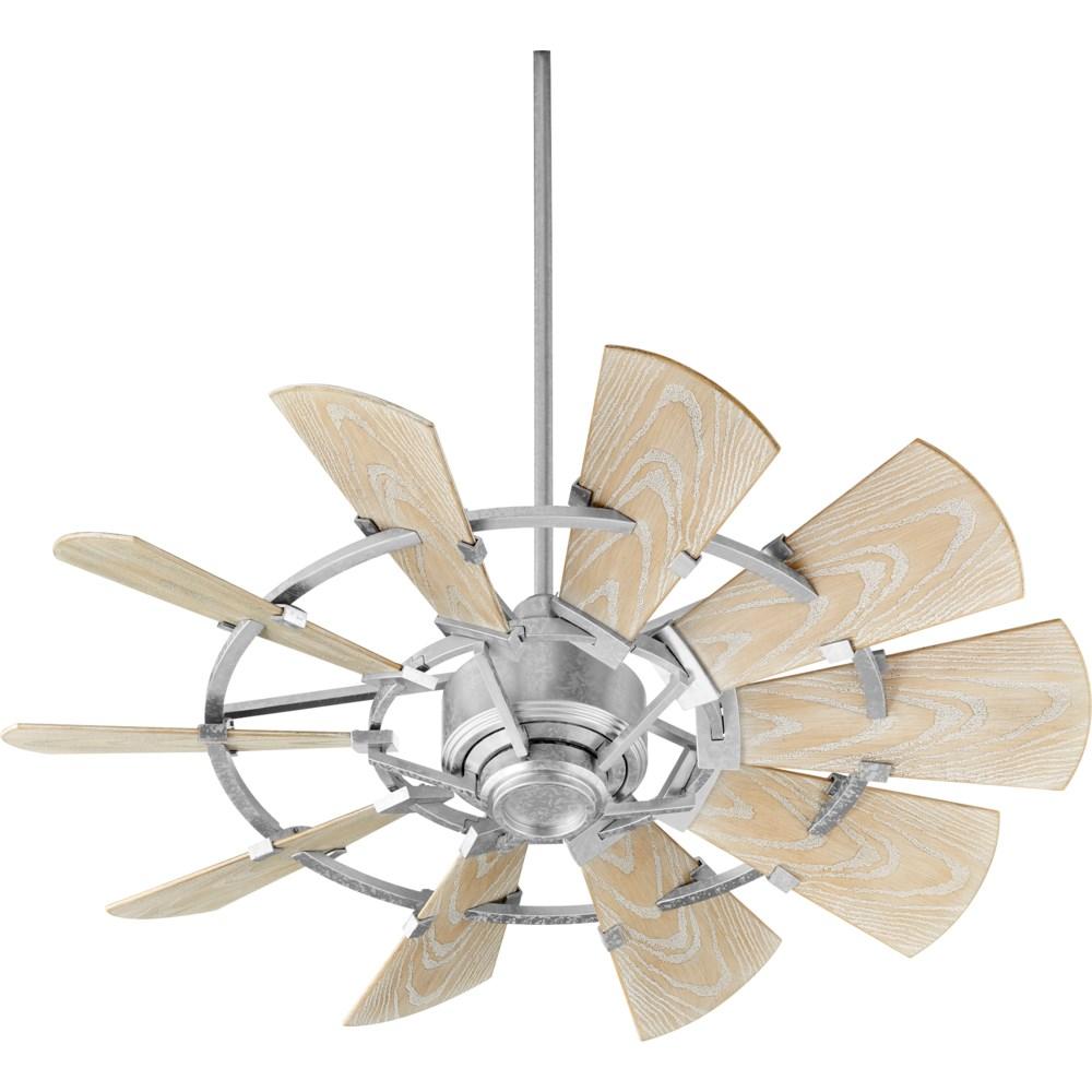 Windmill 44-in Galvanized  Indoor/Outdoor Ceiling Fan (10-Blade)