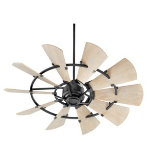 Windmill 52-in Black Indoor/Outdoor Ceiling Fan (10-Blade)