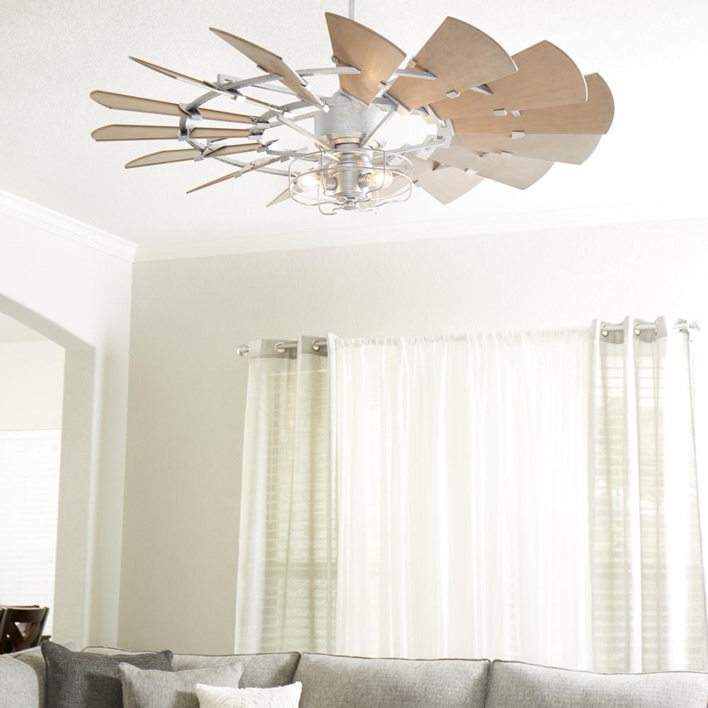 Windmill 52-in Galvanized Indoor/Outdoor Ceiling Fan (10-Blade)