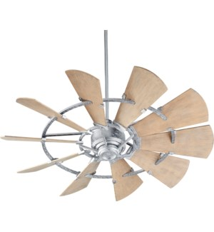 Windmill 52-in Galvanized Indoor/Outdoor Ceiling Fan (10-Blade)