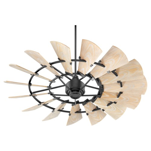 Windmill 60-in Black Indoor/Outdoor Ceiling Fan (15-Blade)