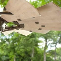 Windmill 60-in Oiled Bronze Indoor/Outdoor Ceiling Fan (15-Blade)