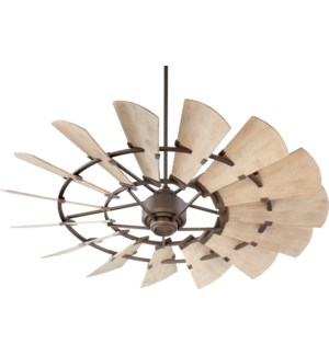Windmill 60-in Oiled Bronze Indoor/Outdoor Ceiling Fan (15-Blade)