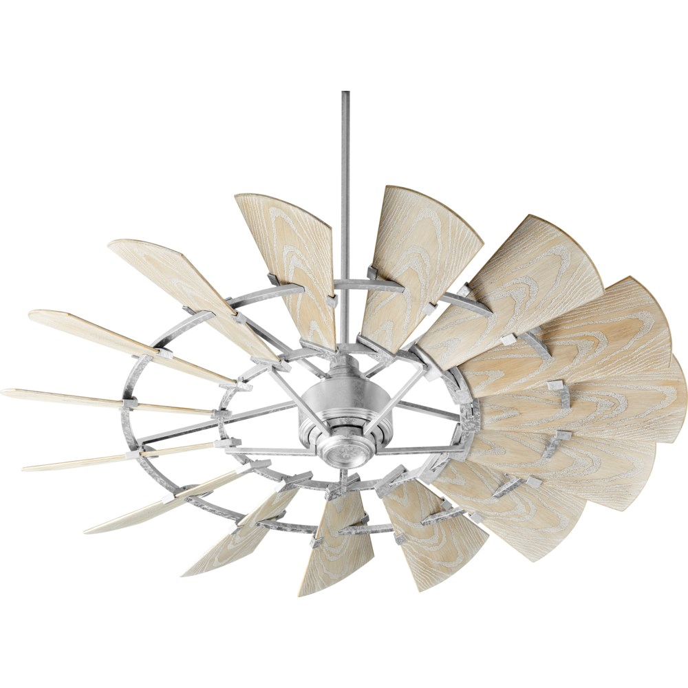 Windmill 60-in Galvanized Indoor/Outdoor Ceiling Fan (15-Blade)