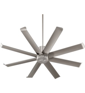 Proxima Patio 60-in Satin Nickel Indoor/Outdoor Ceiling Fan (8-Blade)
