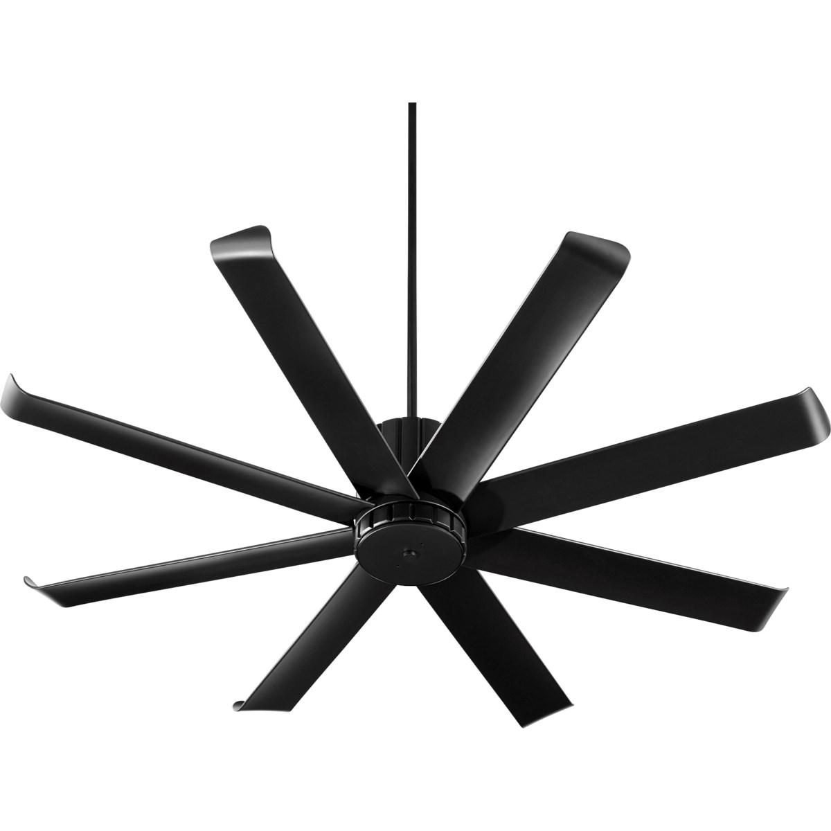 Proxima Patio 60-in Black Indoor/Outdoor Ceiling Fan (8-Blade)