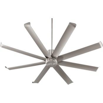 Proxima Patio 72-in Satin Nickel Indoor/Outdoor Ceiling Fan (8-Blade)