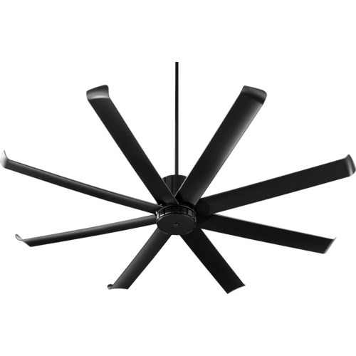 Proxima Patio 72-in Black Indoor/Outdoor Ceiling Fan (8-Blade)