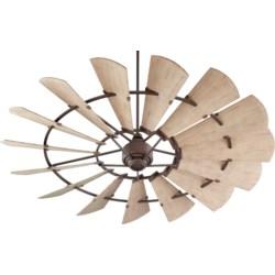 Windmill 72-in Oiled Bronze Indoor/Outdoor Ceiling Fan (15-Blade)
