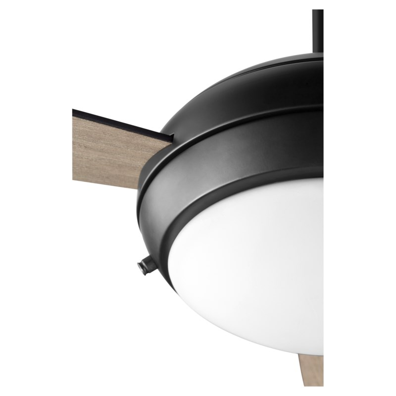 "Expo 52"" Three-Blade Matte Black LED Ceiling Fan"