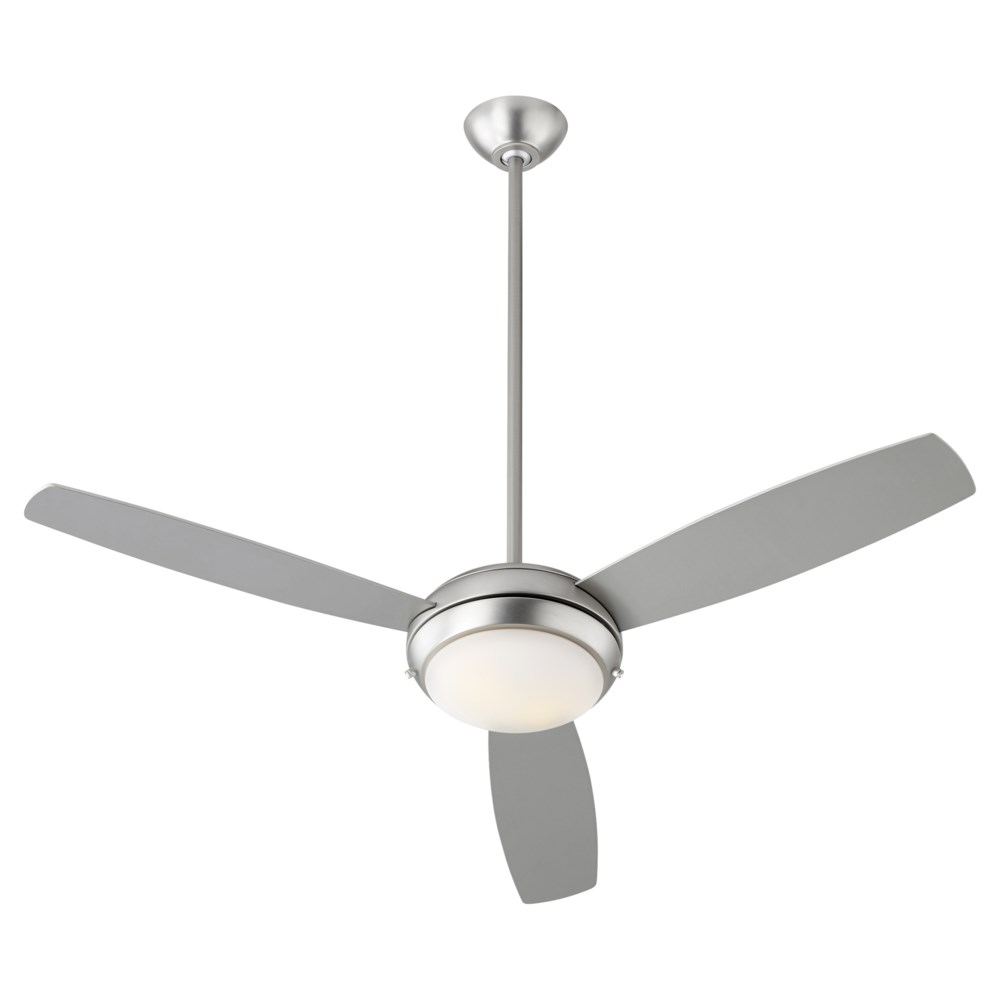 "Expo 52"" Three-Blade Satin Nickel LED Ceiling Fan"