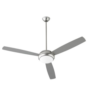 """EXPO 60"""" 3-Blade Satin Nickel LED Ceiling Fan"""