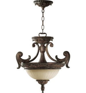 Madeleine 18-in Semi-Flush Mount Corsican Gold